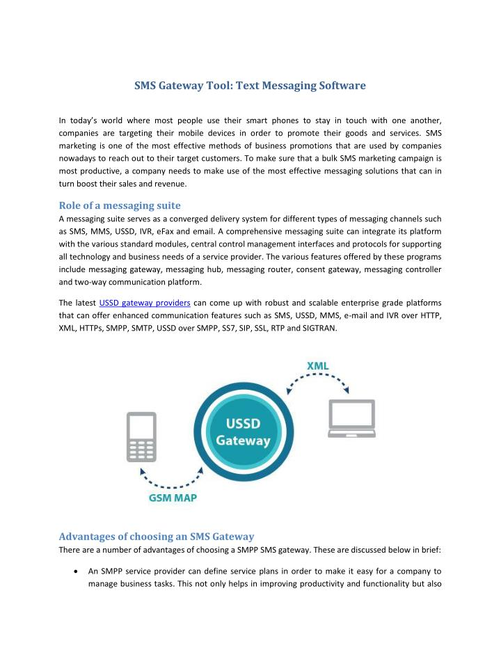 PPT - SMS Gateway Tool : Text Messaging Software PowerPoint