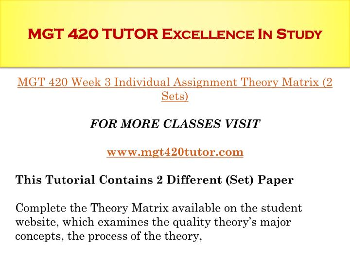 mgt 420 theory matrix Per page go please leave this field blank q $000.