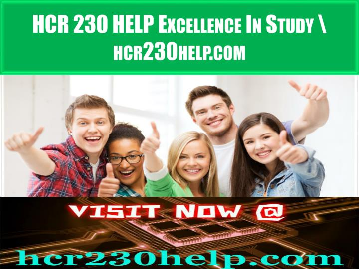 hcr 230 help excellence in study hcr230help com n.