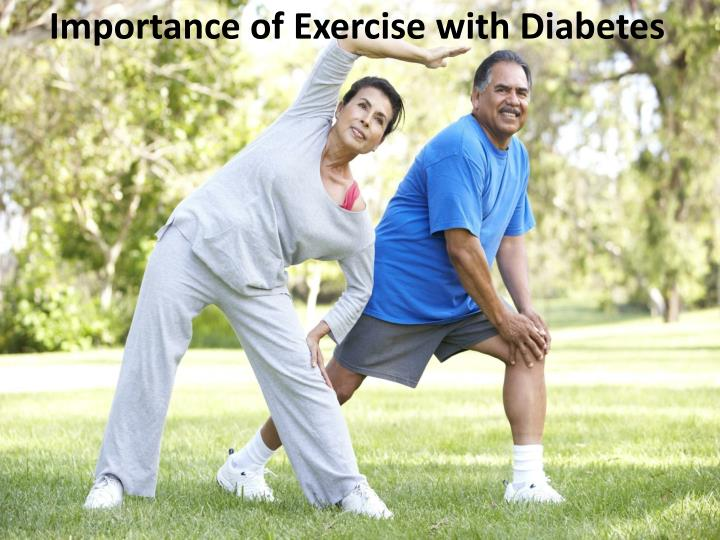 importance of exercise with diabetes n.