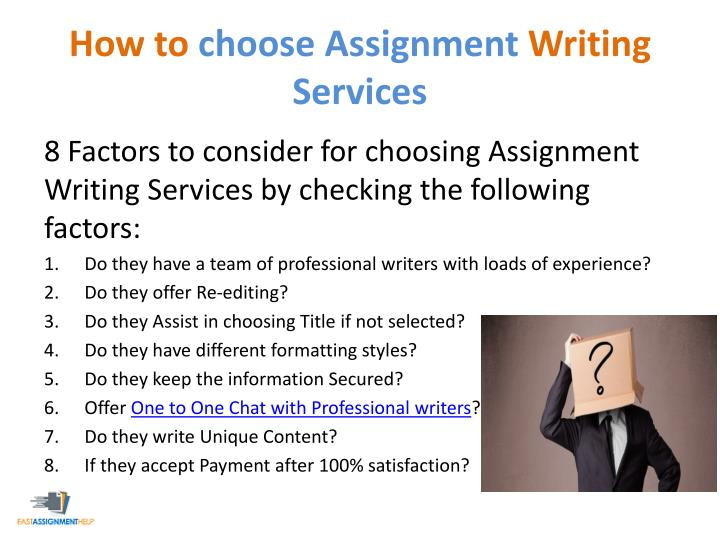 ppt  8 questions to ask your assignment help service