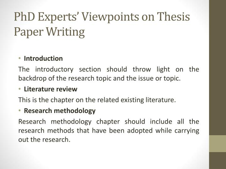 writing an introduction to a phd thesis