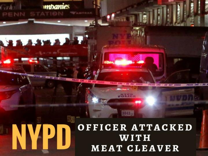 nypd officer assaulted with meat cleaver n.