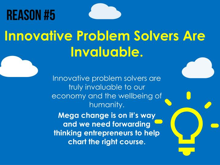 Innovative Problem Solvers Are