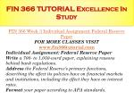 fin 366 tutorial excellence in study11