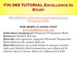 fin 366 tutorial excellence in study15