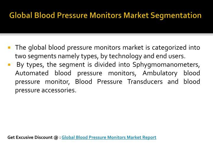 Global Blood Pressure Monitors Market Segmentation