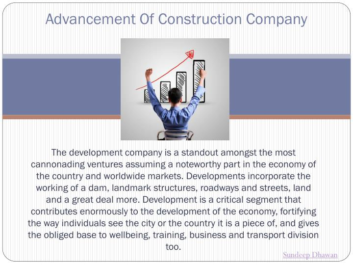 advancement of construction company n.