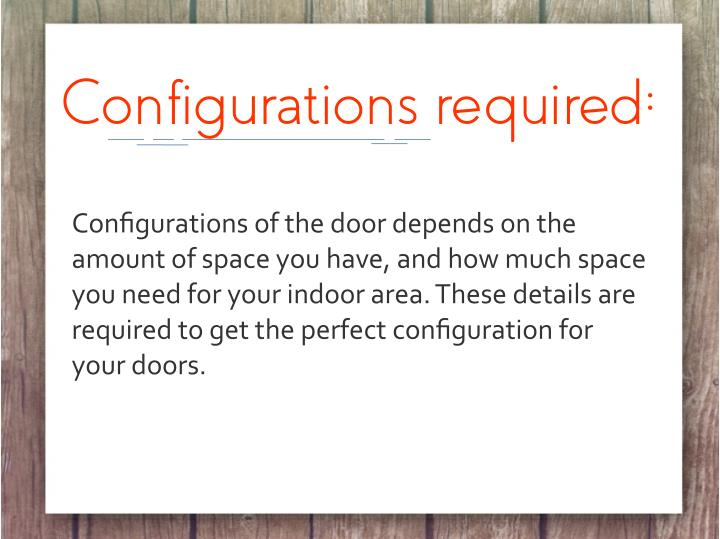 Configurations required: