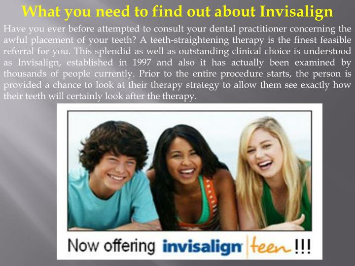 What you need to find out about Invisalign