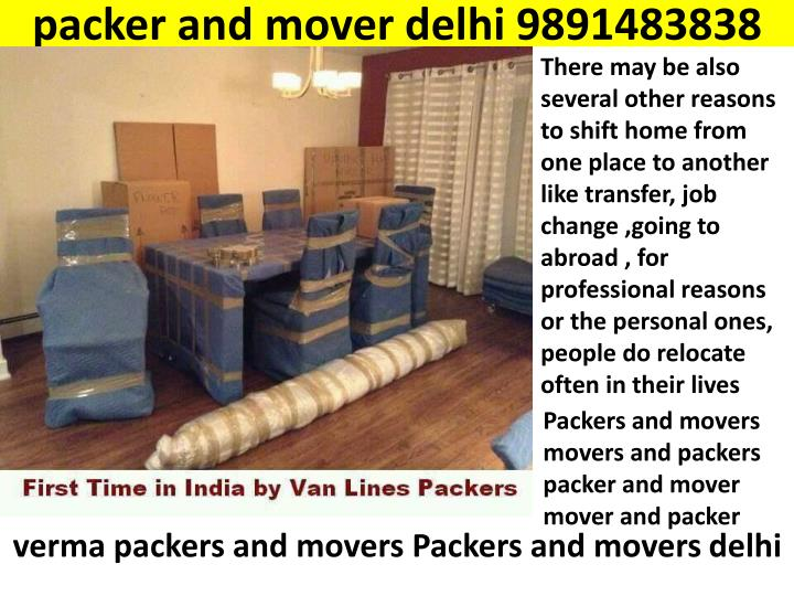 packer and mover delhi 9891483838 n.