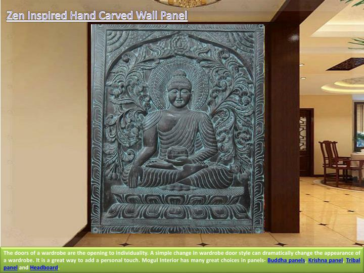 Zen Inspired Hand Carved Wall Panel