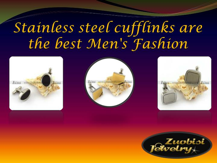 stainless steel cufflinks are the best men s fashion n.