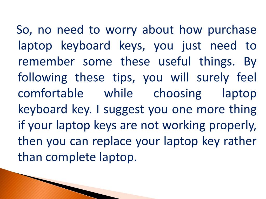 PPT - Tips to Remember while Choosing a Laptop Keyboard Keys