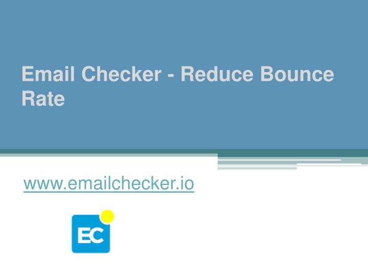 email checker reduce bounce rate n.