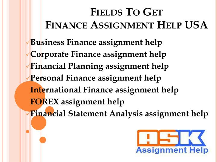 Business Finance Homework Help