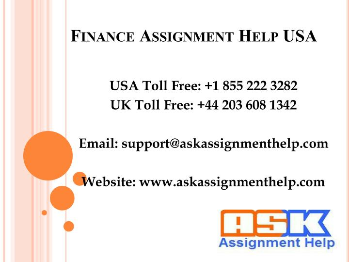 GET ASSIGNMENT HELP IN THE USA - TAKE ASSISTANCE FROM THE EXPERTS IN THE USA AND SCORE HIGH