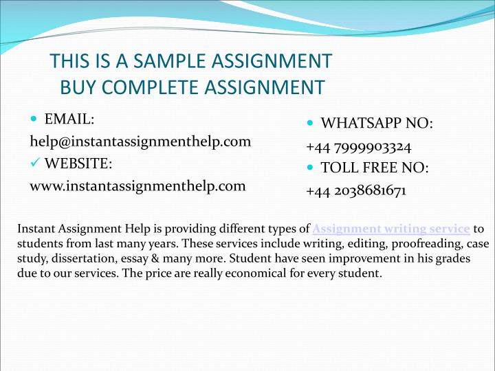 Why MyAssignmenthelp.com is worthy?