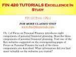 fin 420 tutorials excellence in study2
