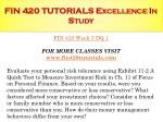 fin 420 tutorials excellence in study8