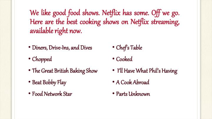 best cooking shows on netflix