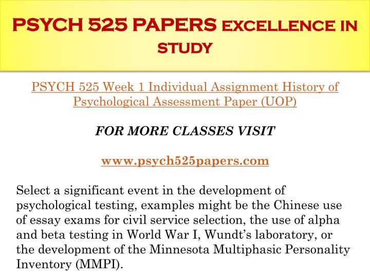 history of psychological assessment paper