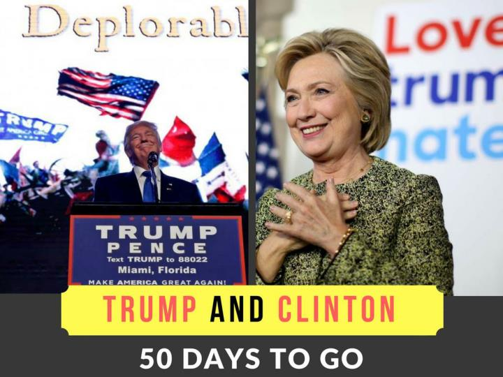 trump and clinton 50 days to go n.