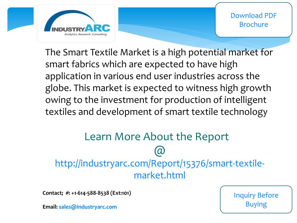 PPT - Smart Textile Market: increase in production of smart