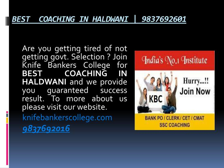 BEST  COACHING IN HALDWANI