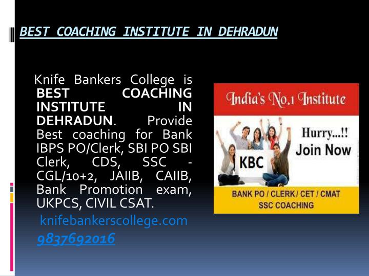 BEST COACHING INSTITUTE IN DEHRADUN