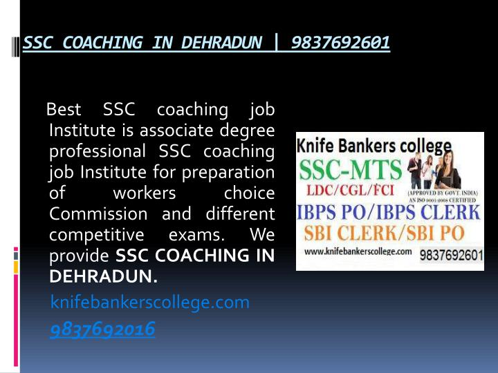 SSC COACHING IN DEHRADUN