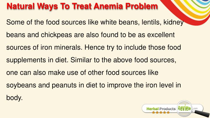 Natural Ways To Treat Anemia Problem
