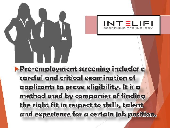 pre employment screening and social networking a Overall, employers should tread very carefully in using social networking sites as a screening device there are very little substantive advantages to using such.