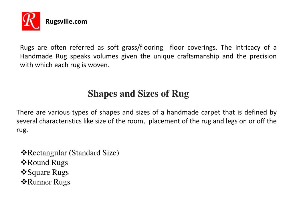 Ppt Rugsville Different Sizes And Shapes Of Rugs