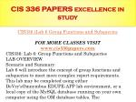 cis 336 papers excellence in study24