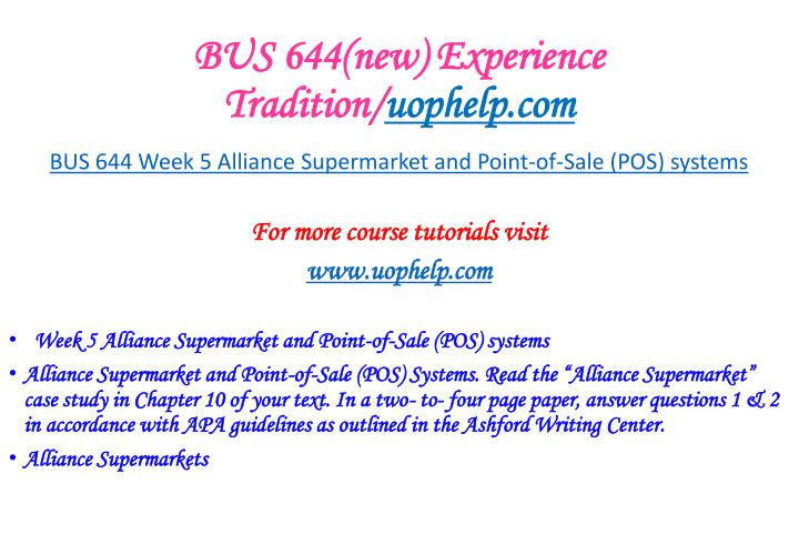 alliance supermarket point of sale pos systems essay Beck manufacturing and plant capacity next post next alliance supermarket and point-of-sale (pos) systems report writing and essay writing service.