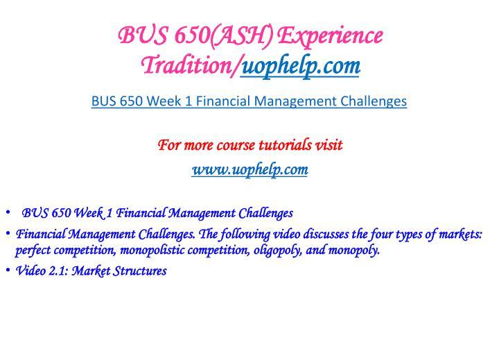 week 5 bus 650
