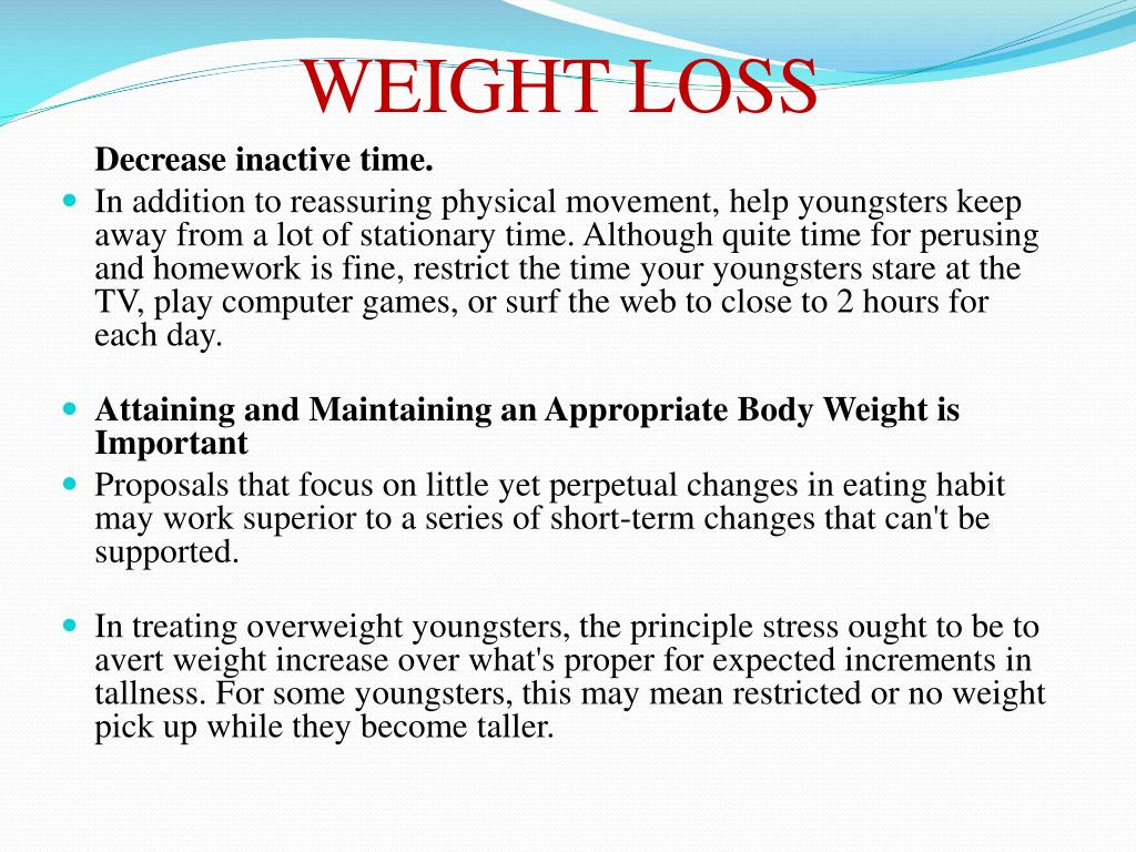 PPT - Tips to curb obesity in children and achieving weight