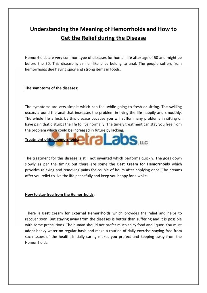 Understanding the Meaning of Hemorrhoids and How to