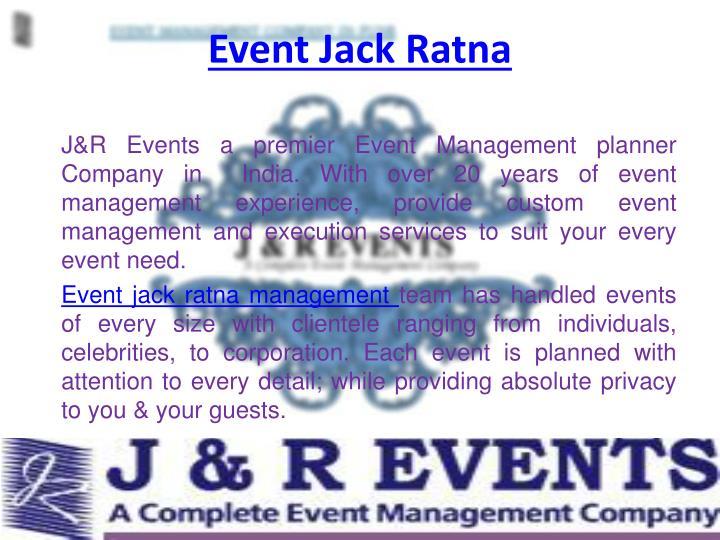 Event Jack Ratna