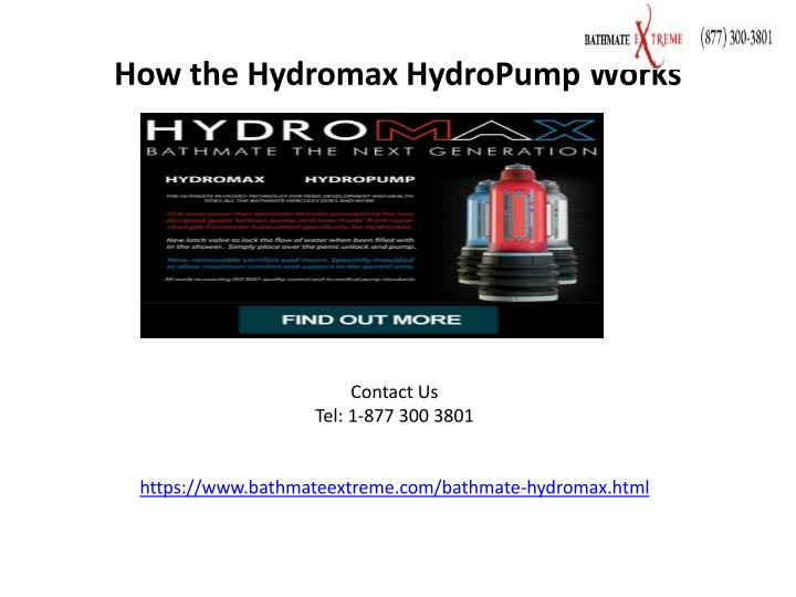 how the hydromax hydropump works n.