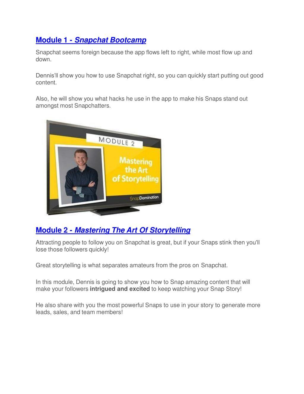 PPT - Snap Domination Review-$9700 Bonus & 80% Discount