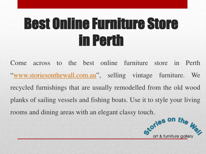 Ppt Stories On The Wall Furniture Store In Perth
