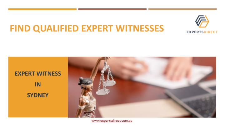 find qualified expert witnesses n.