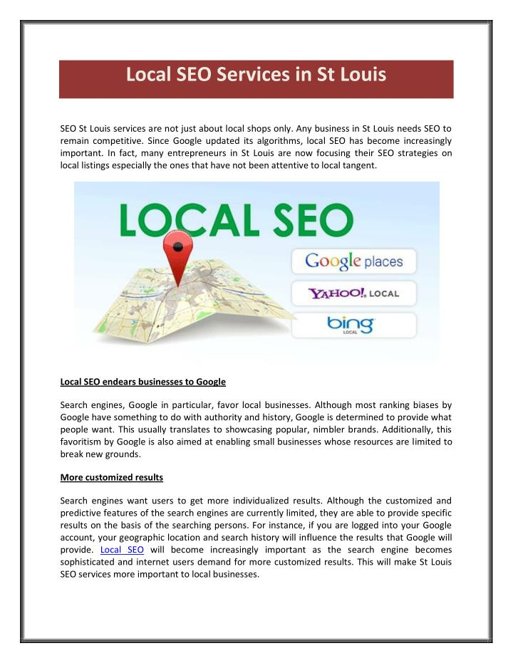 Local SEO Services in St Louis