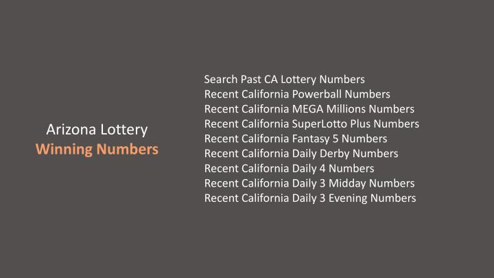 ppt - california lottery, ca lotto information, contact, drawing