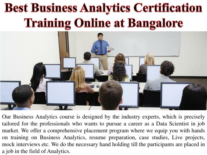 best business analytics certification training online at bangalore n.