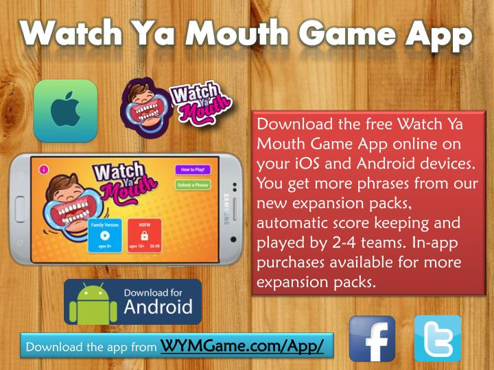 watch ya mouth game phrases free