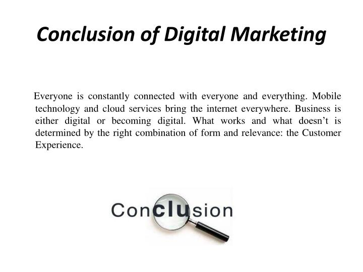 Conclusion of Digital Marketing