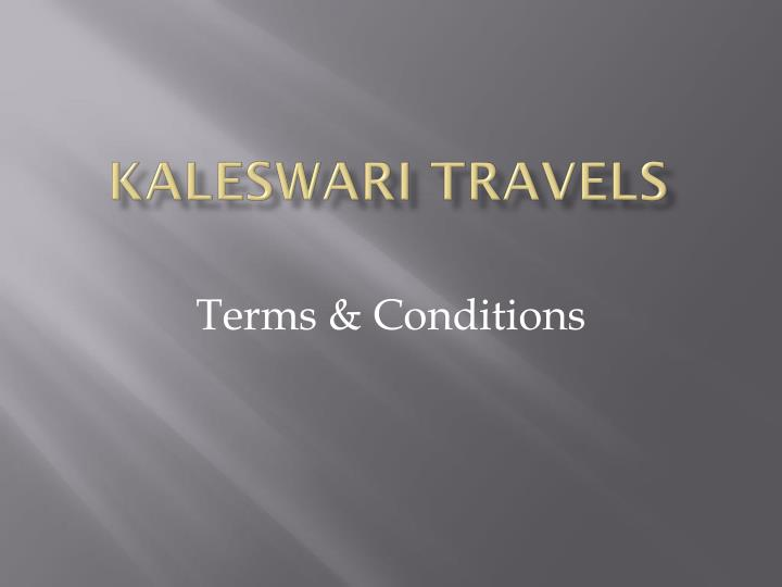 kaleswari travels n.